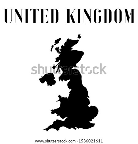 United Kingdom of Great Britain and Northern Ireland, UK, England outline world map silhouette vector illustration, design background, national country flag, objects, element, symbols countries set