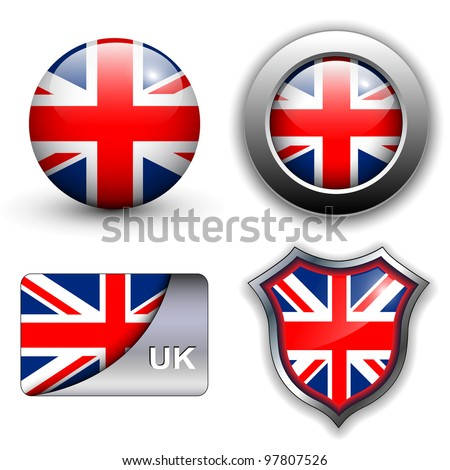 United Kingdom; UK flag icons theme.