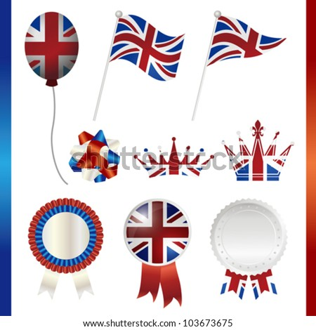 united kingdom union jack set