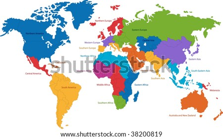 United Nations divides the world into macro-geographical regions and sub-regions #38200819