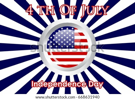 united Stated independence day Celebration of 4th of July, Holiday in United States of America.