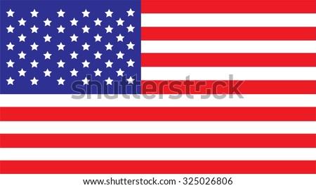 United States america Flag Vector red white blue #325026806