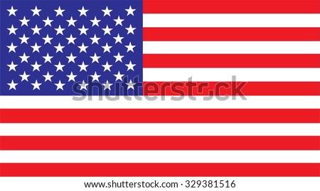 United States america Flag Vector red white blue #329381516