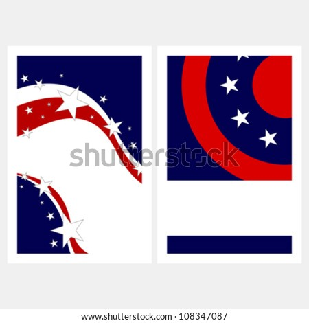 United States colors. Election posters set with copy space