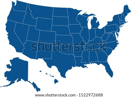 United States country map america Foto stock ©