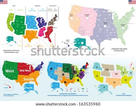 United States detailed maps set