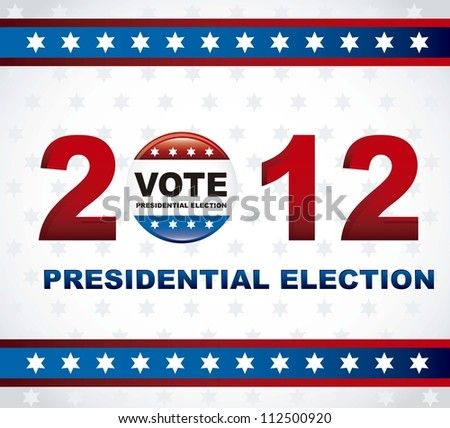 united states election vote, presidential election. vector illustration