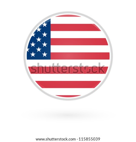 United States Fag Button