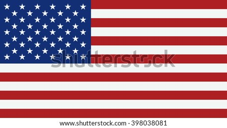 united states flag usa american symbol independence day background flat of #398038081