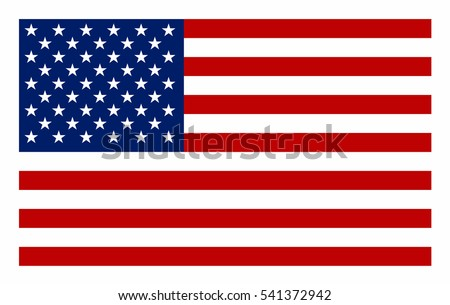 United States  flag vector icon. #541372942