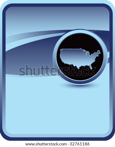 united states icon on blue background