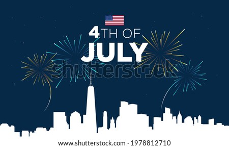 United States Independence Day Background Design. Fourth of July. Vector illustration Stock photo ©
