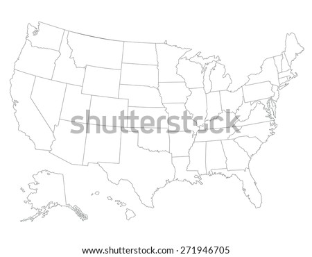 United States Map Vector Download Free Vector Art Stock - Sketch drawing us with states map