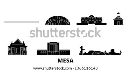 united states  mesa flat travel