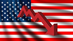 United States Of America Economic crisis and recession background template.
