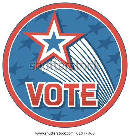 United States of America Elections pins (badge, design)