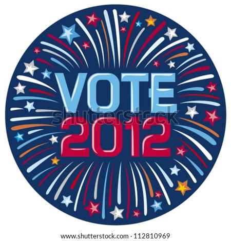 United States Of America Elections Pins (Vote Button Firework ...