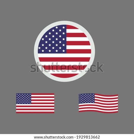 united states of america flag. vector illustration of united states flag sign symbol. united states flag vector. united states national flag.