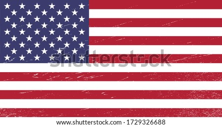 United States of America flag with grunge texture - USA - vector illustration