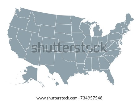 Shutterstock United States of America map
