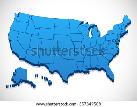 United States Map Vector Download Free Vector Art Stock - Us state map outline that can be colored