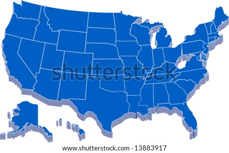 united states of america map in