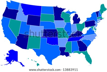 map of united states for kids. map of the united states