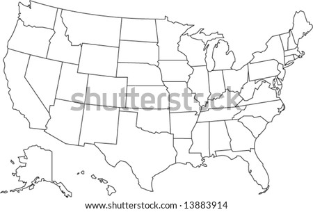 United States Map Vector Download Free Vector Art Stock - Map united states black and white