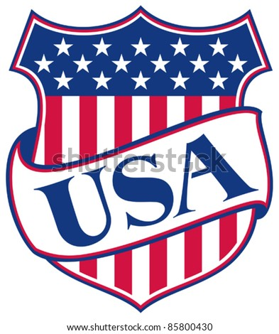 UNITED STATES OF AMERICA shield (USA - american patriotic symbol)