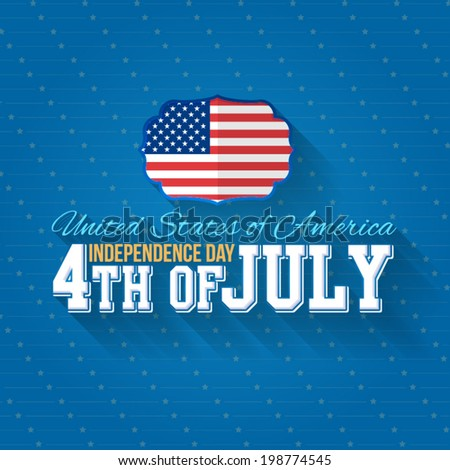 United States of America 4th of July Happy Independence Day Announcement Celebration Message Poster, Flyer, Card, Background Vector Design