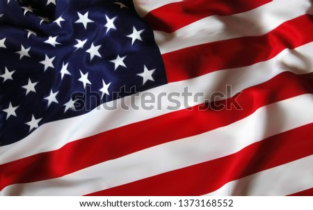 United States of America USA Flag for the holiday 4th of July. Celebrating Independence Day. Eps10 vector illustration. - Vector illustration