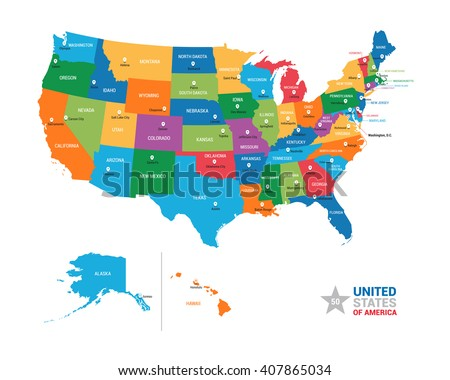 North America Map Vector Download Free Vector Art Stock - Us map graphic
