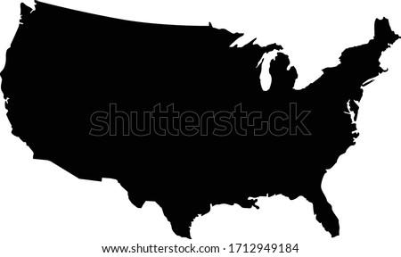 United States of America Vector silhouette clip art  Stockfoto ©