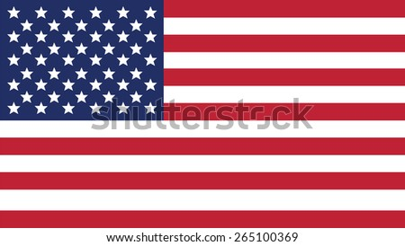united states of american  Flag for Independence Day and infographic Vector illustration. #265100369