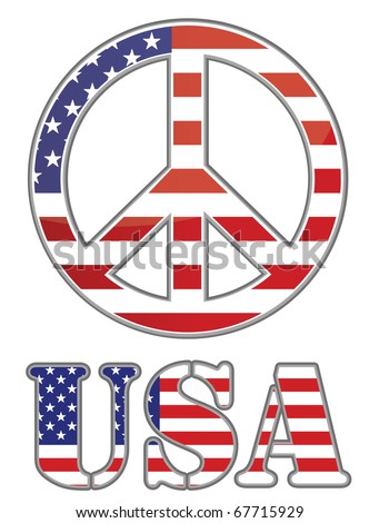 United states peace sign on white background. Vector file available / United states peace sign