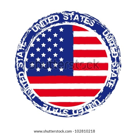 united states seal isolated over white background. vector