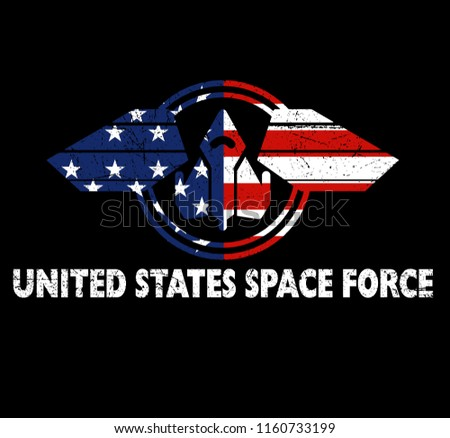 United States Space Force Patriotic American Gift Design Vector Illustration