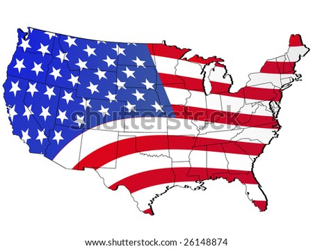 Striped US Map Vector Download Free Vector Art Stock Graphics - Cartoon map of the us