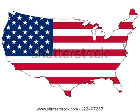 united states vector map with