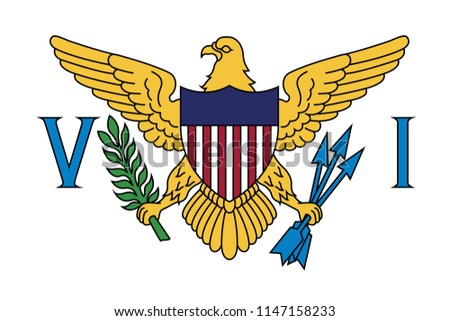 United States Virgin Islands Flag Icon
