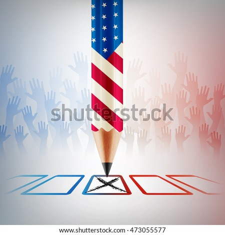Shutterstock United States Vote.American Election day.vector illustration eps 10