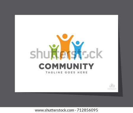 unity community logo icon vector template