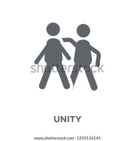 Unity icon. Unity design concept from Political collection. Simple element vector illustration on white background.
