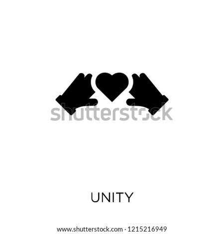 Unity icon. Unity symbol design from Political collection. Simple element vector illustration on white background.