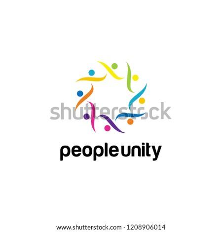 Unity Logo Design. Unity Logo Vector Template