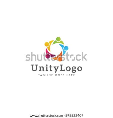 unity  logo icon vector template