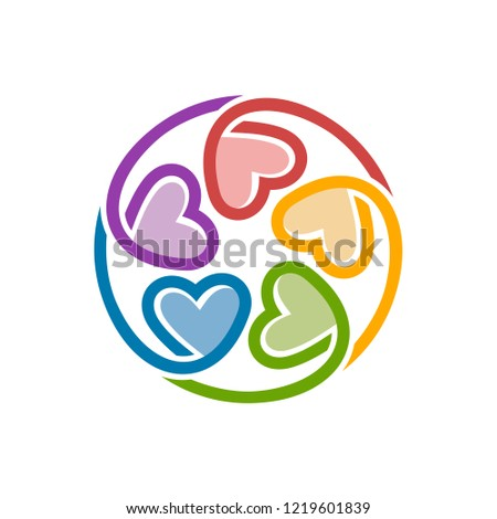 Unity Love Logo Design Template