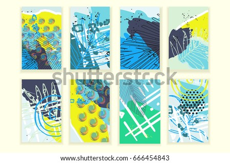universal abstract posters set