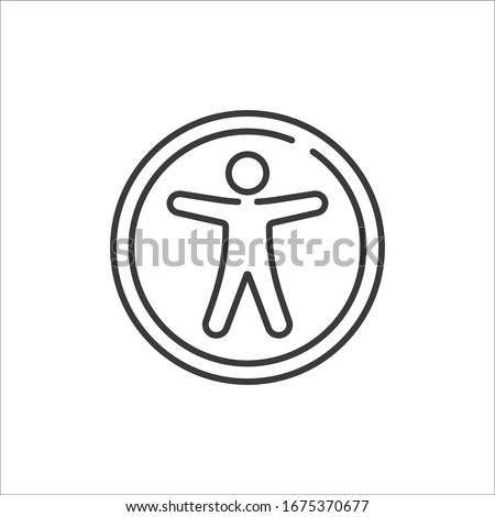 Universal accsess vector line icon