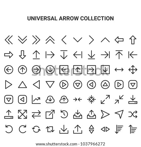 Universal Arrow Collection Vector
